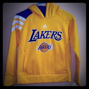Adidas Lakers Hoodie Sweatshirt Youth Small 8
